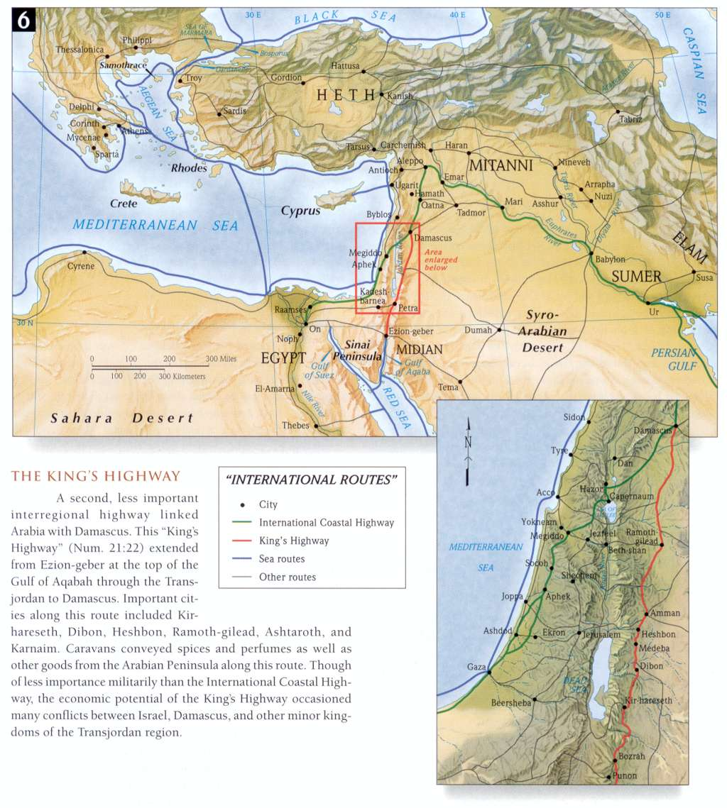 Bible atlas online by access foundation international routes the kings highway gumiabroncs Image collections