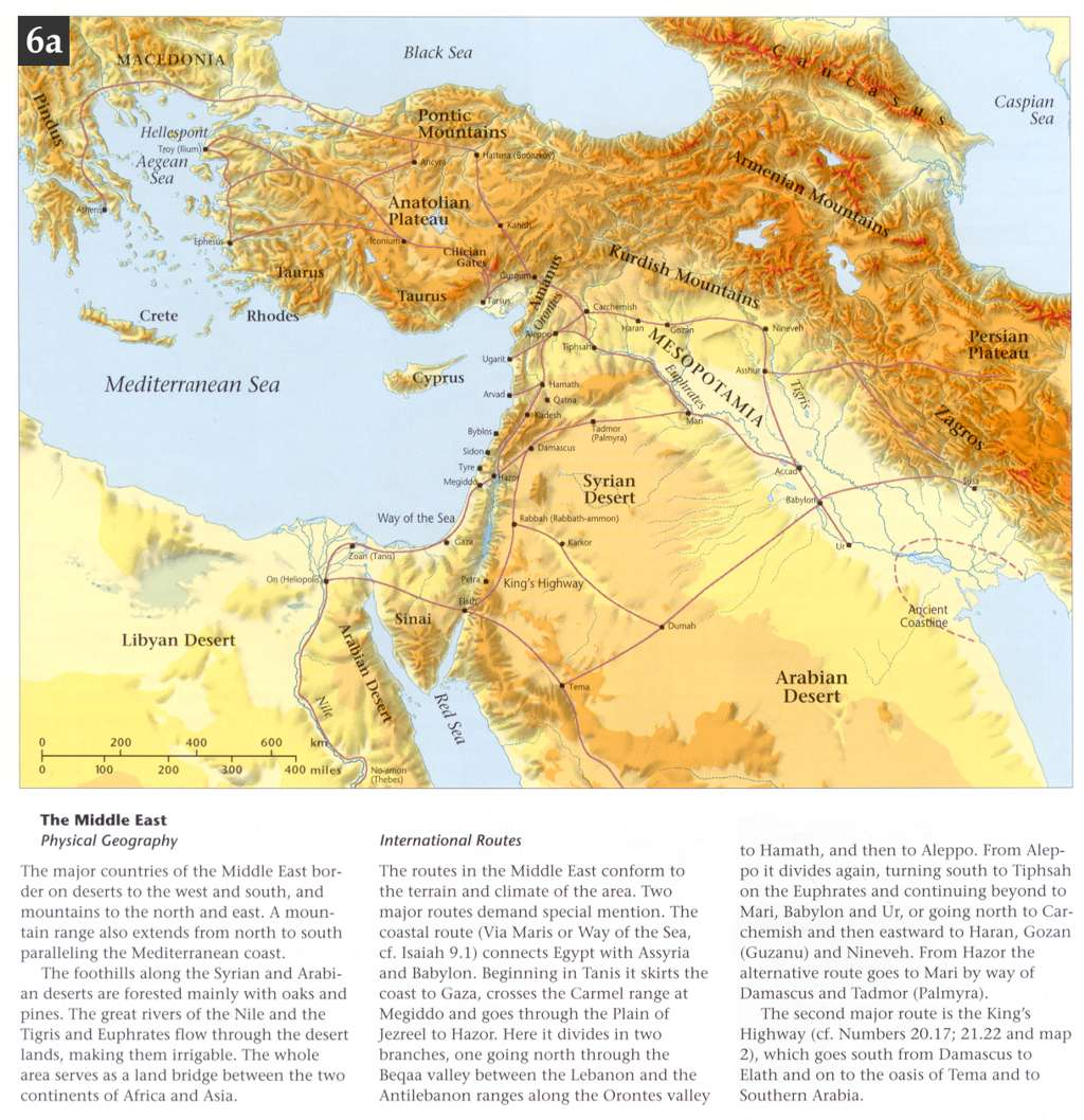 Bible atlas online by access foundation geography and trade routes of the middle east gumiabroncs Image collections
