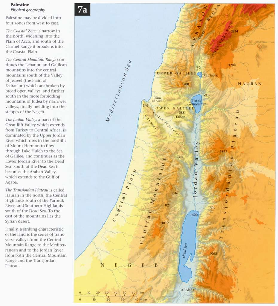 Bible Atlas Online By Access Foundation - Map of old testament israel